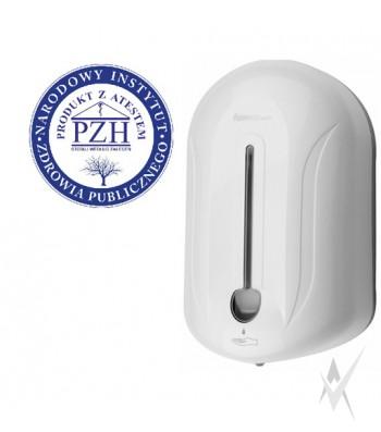 Dezinfekcinio skysčio,skysto muilo automatinis dalytuvas, talpa 1100 ml.