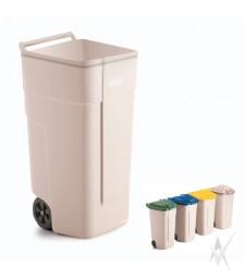 Šiukšliadėžių - konteinerių sistema atliekų rūšiavimui lauko sąlygomis Rubbermaid