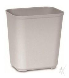 Šiukšliadėžė atspari ugniai. Stiklo pluoštas, dydis 28,3 x 21 x 31,1 cm. Talpa 13,2 ltr, pilkos spalvos