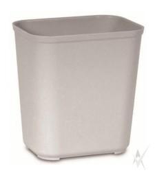 Šiukšliadėžė atspari ugniai. Stiklo pluoštas, dydis 36,8 x 26,7 x 38,9 cm. Talpa 26,5 ltr, pilkos spalvos