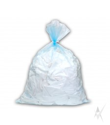 Tirpstantis vandenyje, skaidrus maišas su skaidria virvute infekuotiems skalbiniams skalbti, 50 vnt. PE vokelyje. 500 vnt maišų kartoninėje dėžėje. Išmatavimai: 70x100 cm. Talpa 136 ltr. Storis 25 mk.