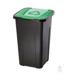 Šiukšliadėžė,plastikas, žalios spalvos dangtis, 50 litrų