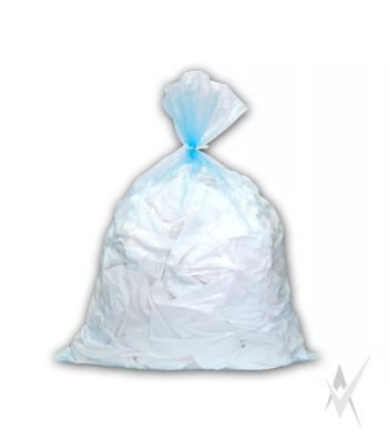 Tirpstantis vandenyje, skaidrus maišas su skaidria virvute infekuotiems skalbiniams skalbti, 50 vnt. PE vokelyje. 500 vnt maišų kartoninėje dėžėje. Išmatavimai: 66x84 cm. Talpa 87 ltr. Storis 20 mk.