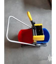 Vermop 2 kibirų vežimėlis drėgnam grindų valymui, su VK 4 tipo išgręžėju
