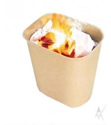 Šiukšliadėžė atspari ugniai. Stiklo pluoštas, dydis 22,5 x 16,2 x 26,2 cm. Talpa 6,6 ltr, smėlio spalvos