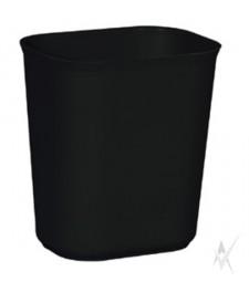 Šiukšliadėžė atspari ugniai. Stiklo pluoštas, dydis 36,8 x 26,7 x 38,9 cm. Talpa 26,5 ltr, juodos spalvos