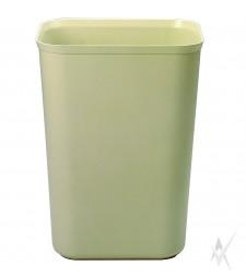 Šiukšliadėžė atspari ugniai. Stiklo pluoštas, dydis 38,1 x 28,6 x 50,8 cm. Talpa 37,9 ltr, smėlio spalvos