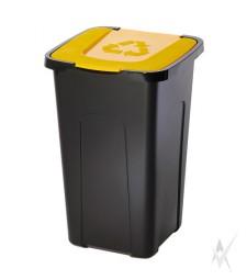 Šiukšliadėžė,plastikas, geltonos spalvos dangtis, 50 litrų