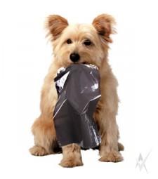 Maišai šuniukų išmatoms, juodos spalvos, pagaminta iš HDPE, 20 vnt. ritinyje