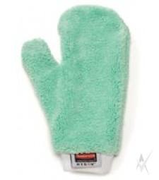 Mikropluošto šluostė - pirštinė, žalios spalvos, dulkėtiems paviršiams, 1 vnt.