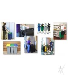 Šiukšliadėžių sistema atliekų rūšiavimui Slim Jim